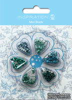 Набор брадсов от URSUS, размер 3 мм, цвет: оттенки голубого, 120шт. - ScrapUA.com