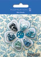 Набор брадсов от URSUS, размер 3 мм, цвет: оттенки синего, 120 шт.