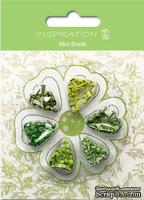 Набор брадсов от URSUS, размер 3 мм, цвет: оттенки зеленого, 120 шт.
