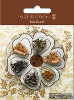 Набор брадсов от URSUS, размер 3 мм, цвет: оттенки коричневого, 120 шт.