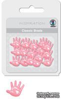 """Набор классических брадсов от URSUS """"Ладошки"""", цвет розовый, 26 шт."""