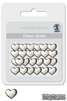 """Набор классических брадсов от URSUS """"Сердце 1"""", цвет серебристый, 26шт. - ScrapUA.com"""