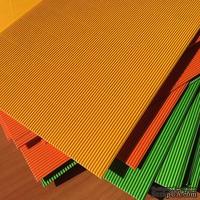 Картон гофрированный мелкий,  плотность 300г, размер 20х30см, цвет желтый