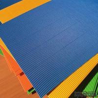 Картон гофрированный мелкий,  плотность 300г, размер 20х30см, цвет темно-синий