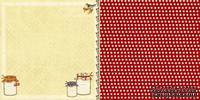 Лист скрапбумаги Webster's Pages - Sweet Jam - Spring Market Collection - размер 30х30 см, двусторонний