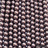 """Бусины """"жемчуг"""" на нити, 140 бусин, диаметр 6 мм"""