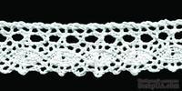 Кружево вязаное, цвет белый, ширина 18 мм, длина 90 см