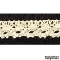 Кружево вязаное, цвет бежевый, ширина 12 мм, длина 90 см