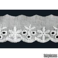"Кружево ""шитье"", 100% ХБ, цвет белый, ширина 25 мм, длина 90 см"