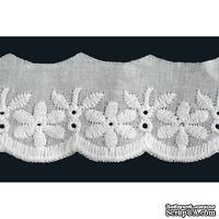 "Кружево ""шитье"", 100% ХБ, цвет белый, ширина 40 мм, длина 90 см"