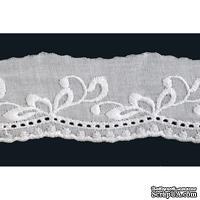 """Кружево """"шитье"""", 100% ХБ, цвет белый, ширина 45 мм, длина 90 см - ScrapUA.com"""