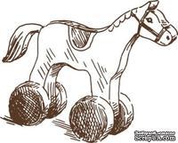 Акриловый штамп Stamp Rocking Horse, размер 3,5 * 4,4  см