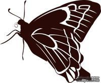 Акриловый штамп Stamp Butterfly 9 Бабочка, размер 4,8 * 3,9  см