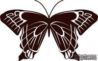 Акриловый штамп Stamp Butterfly 10 Бабочка, размер 4 * 2,5  см