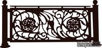 Акриловый штамп Wrought Iron Fence Железная ограда, размер 6 * 2,8 см