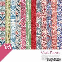 Набор бумаги для скрапбукинга Craft Papers - 30x30 V&A, 36 листов