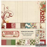 Набор бумаги и украшений My Mind's Eye - Vintage Christmas, 30х30 см