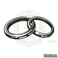 Акриловый штамп Lesia Zgharda Обручальные кольца VE002a, размер 3,2х1,5 см
