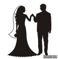 Акриловый штамп Wedding Stamp VE007d Жених и невеста, размер 2,6*3,2 см