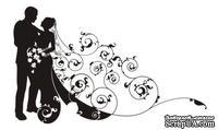 Акриловый штамп Wedding Stamp VE008b Жених и невеста, размер 7,2*4,4 см