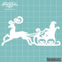 Чипборд от Вензелик - Новогодний олень, размер: 52x104 мм