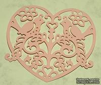 Высечки от Gallery Tools - Влюбленные птички, размер 9 см x 9 см, цвет розовый