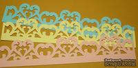 Высечки от Gallery Tools - Большой бордюр с сердцем, длина 18 см, три цвета;