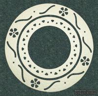 Высечки от Gallery Tools - Круглые рамочки, диаметр: 12,5 см и 6 см, цвет шампань;