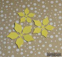 Высечки от Gallery Tools - Лепестки для желтой пуансетии, 6 деталей.