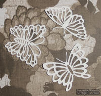 Высечка от Gallery Tools - Три бабочки, 6х5 см; 7,5х4,5 см
