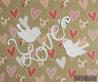 Высечка от Gallery Tools - Влюбленные птички, птички 4х2,5 см; лента 0,2х10,5 см