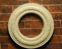 Гипсовое украшение от Е.В.А. - Круглая рамка, диаметр - 3,5см