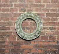 Гипсовое украшение от Е.В.А. - Круглая рамка,  патенированная, диаметр - 3,5 см