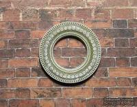 Гипсовое украшение от Е.В.А. - Круглая рамка, патенированная со звездами, 3,5 внеш, 1,9 внутр