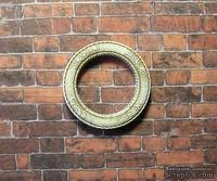 Гипсовое украшение от Е.В.А. - Круглая рамка, патенированная , с узором, диаметр - 3 см