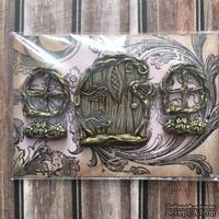 Набор пластиковых украшений: дверь и окошки под античное золото от Е.В.A, см