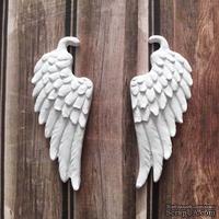 Гипсовые украшения - крылья, 2 шт. от Е.В.A, одно крыло - 2,8х6,6см