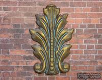Гипсовый декор от Е.В.А - Листик, под окисленный металл, 7,5х5 см