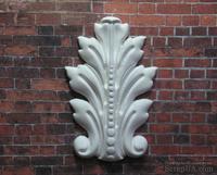 Гипсовый декор от Е.В.А - Листик, белый, 7,5х5 см