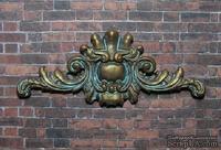 Гипсовый декор от Е.В.А - Вензель, под окислённый металл, 10х4,5 см