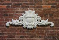 Гипсовый декор от Е.В.А - Вензель, белый, 10х4,5 см