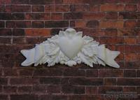 Пластиковый декор от Е.В.А - Вензель с сердцем, 7х2,7 см