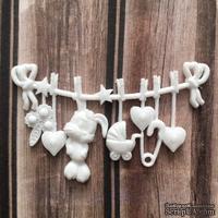 Пластиковое украшение Детская бельевая веревочка от Е.В.A, 6x3,5см