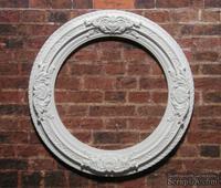 Гипсовая круглая рамочка от Е.В.А., 7.2 см