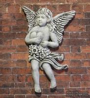 Гипсовый ангел с патинированием от Е.В.А., 7.2х4.4 см