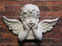 Гипсовое украшение от Е.В.А. - Ангел, 5.3х3.5 см