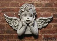 Гипсовое украшение от Е.В.А. - Ангел с патинированием, 5.3х3.5 см