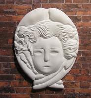 Гипсовое украшение от Е.В.А. - Мифический ангел, 7.3х5.7  см