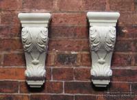 Гипсовое украшение от Е.В.А. - Декоративный кронштейн, 3х1.3 см, 2 шт.