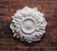 Гипсовый декоративный элемент от Е.В.А. - Розетка, 5.5 см
